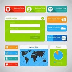 web e design de aplicativos modern ui design website elements stock vector