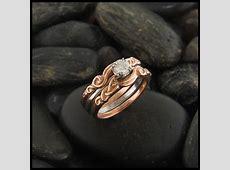 Three Piece Diamond Celtic Wedding Ring Set   Walker