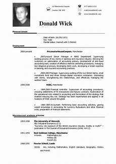 Resume English Template Resume English Examples