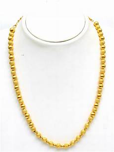 Chain Design Pattern In Gold For Ladies 8 Gram Gold Ball Chain 27k Indian Jewelry Gold Chain