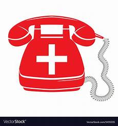 Emergency Call Emergency Call Sign Icon Fire Phone Number Vector Image