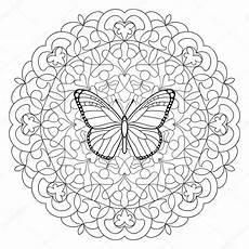 Malvorlage Schmetterling Mandala Butterfly Mandala Coloring Page Stock Vector 169 Kronalux