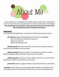 Paragraph About Me Quot All About Me Quot Essay By The Teaching Life Of Chelsea Tpt