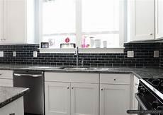 black kitchen backsplash ideas black slate backsplash tile new caledonia granite