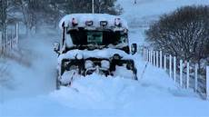 Snow Ploughing Contracts Land Rover Ploughing Snow Youtube