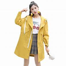 Light Yellow Coat Women Long Trench Coat Coats Pink Yellow Black Light Blue