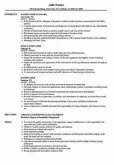Pastry Chef Resume Example Pastry Chef Resume Samples Velvet Jobs