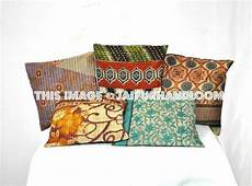 Sofa Pillow Covers 24x24 3d Image by 24x24 Xl Set Of 5 Pillow Covers Vintage Kantha Throw