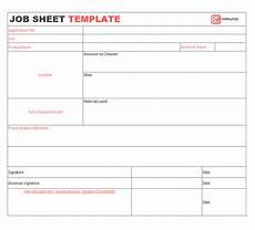 Job Cost Sheet Template Job Sheet 10 Free Templates Format Samples Examples For