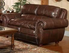 leather italia aspen brown sofa loveseat set w options