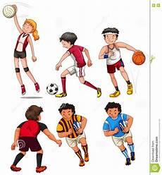uomini che fanno sport doing different sports stock vector illustration