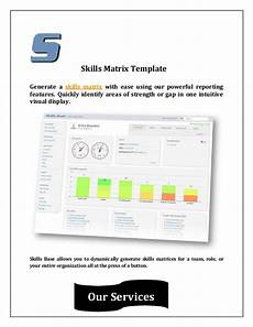 Reporting Matrix Template Skills Matrix Template