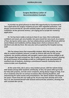 Letter Of Recommendation For Residency Professional Medical Recommendation Letter For Residency