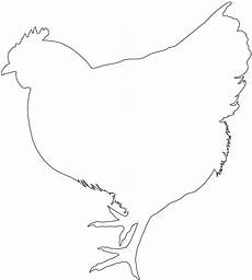 Chicken Outline Chicken Silhouette Free Vector Silhouettes