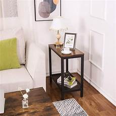 hoobro side table narrow small nightstand with flat or