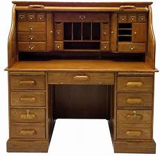 Best Desks 53 3 4 Quot W Deluxe Oak Roll Top Desk