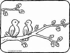 Malvorlage Vogel Auf Ast Zwei V 246 Gel Auf Einem Ast Kiddimalseite
