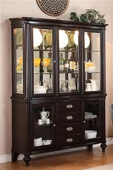 foley buffet and hutch in espresso finish by crown