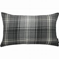 mcalister textiles angus charcoal grey tartan pillow