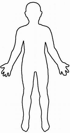 Human Outline Human Body Outline Printable Free Download On Clipartmag