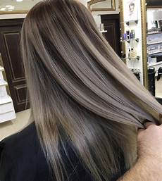 Dark Brown To Light Ash Dark Ash Blond With Almost Silver Tones To Take Out The