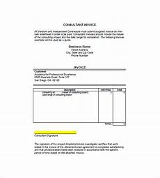 Invoice Format For Consultancy 9 Consultant Consulting Invoice Templates Free Word