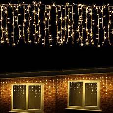 Warm White Hanging Christmas Lights 3m 96led Outdoor Hanging Icicle Curtain String Light