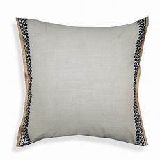 Light Grey Throw Pillows A1hc Light Grey Embroidered With Jute Fringes 20 In