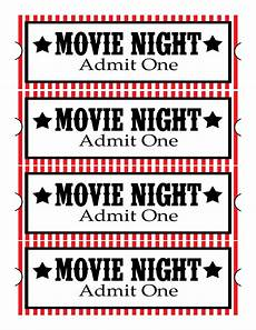 Free Printable Movie Tickets Sweet Daisy Designs Free Printables Home Movie Theatre Night
