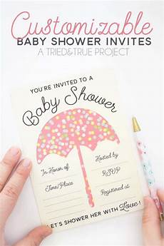 Customizable Invitation Customizable Baby Shower Invites Tried Amp True