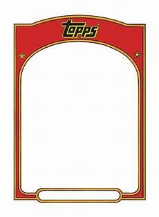 Baseball Card Templates Sports Trading Card Templet Trading Card Template