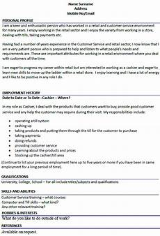 Sample Cv For Cashier Job Cashier Cv Example Icover Org Uk