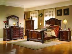 Best Bedroom Furniture Cherry Finish Mediterranean Classic 5pc Bedroom Set W