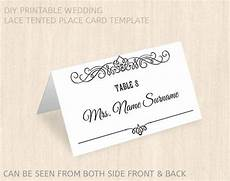 Wedding Place Cards Templates Free Items Similar To Printable Wedding Place Card Template