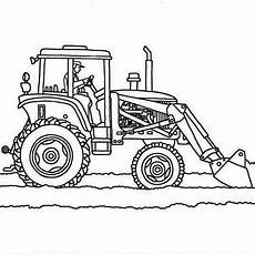 tractor plows coloring page printable tractor