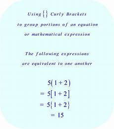 Brackets In Math Math The Meaning Of Braces