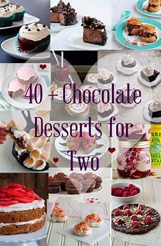 collection of chocolate recipes to serve two