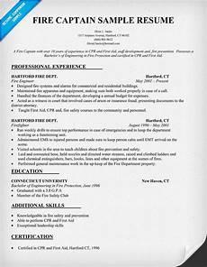 Fire Captain Resume Fire Captain Resume Sample Http Resumecompanion Com