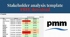 Stakeholder Analysis Template Stakeholder Analysis Template Pm Majik