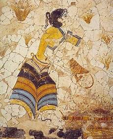 fresco ancient the of time the minoans fashion