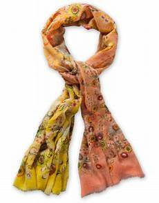oilily scarf gradient flowers yellow oilily