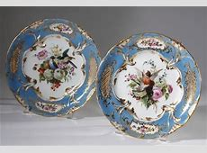 19th CENTURY FRENCH PORCELAIN PLATES by Jacob Petit