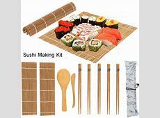 OTVIAP Sushi Making Kit,13Pcs/set Bamboo Sushi Making Kit
