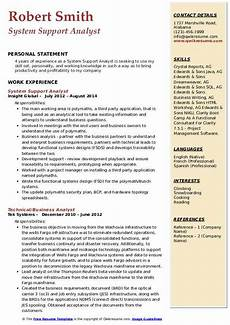 Resume Reading Software System Support Analyst Resume Samples Qwikresume
