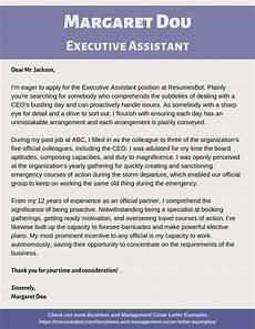 Cover Letter Example For Assistant Executive Assistant Cover Letter Samples Amp Templates Pdf