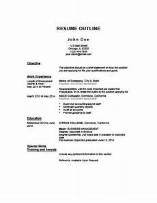 Resume Outline For First Job 5 Customizable Resume Outline Templates And Worksheets Hloom
