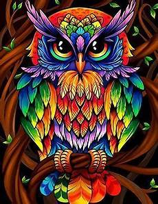 Colorful Owl Art Colorful Owl Diamond Painting Diamondxpres Diamondxpres