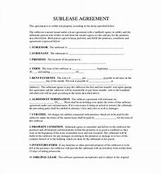 Sublet Agreement Format Sublet Agreement Template Lease Agreement Agreement