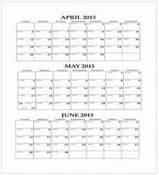 Calendar Template 3 Months Per Page 3 Month Wall Calendar 11x17 Iowa Prison Industries