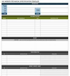 Technical Templates Free Technical Specification Templates Smartsheet